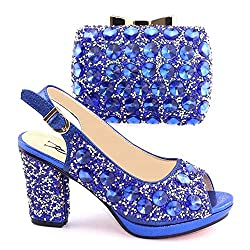Crystal Italian Shoes with Matching Clutch Bag