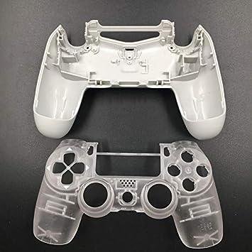 JDM-040 - Carcasa de Repuesto para Mando Playstation 4 Pro PS4 Pro, Color Azul y Blanco Clear No Button: Amazon.es: Electrónica
