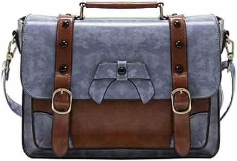 ECOSUSI Vintage Crossbody Messenger Bags Briefcase Girl Purse Handbags for Women