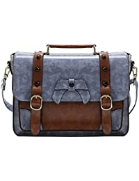 Vintage Crossbody Messenger Bag Satchel Purse Handbag Briefcase for Women & Girl