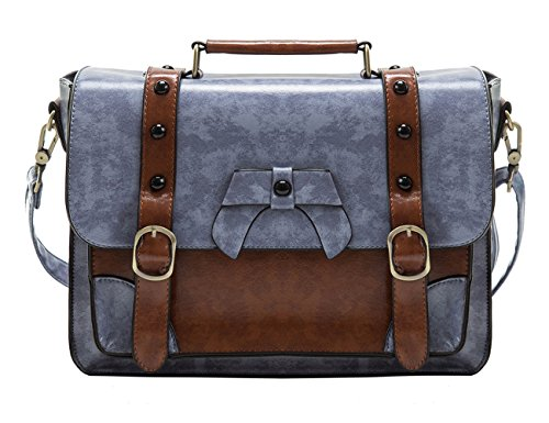 ECOSUSI Stylish Faux Leather Purses Girl's School Satchel Bag Gifts Ideas