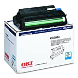 Cyan Image Drum with Extra Toner for C3200 Color Printer