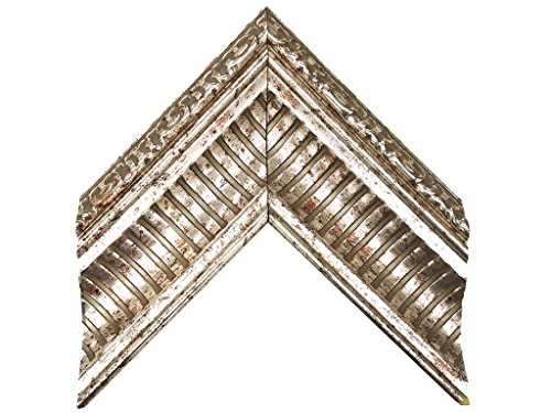 (ImpactInt Elegant Distressed Silver Renaissance Framed Wall Mirror (11x14 Inch Glass) 16 5/8 x 19 5/8 Inch)