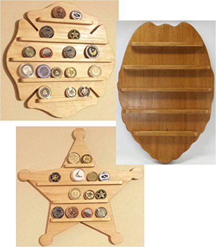 Wall Hanging Challenge Coin Holder - Display - Firefighter, Police, Sheriff - Maltese Cross, Badge, Deputy (Firefighter Display compare prices)