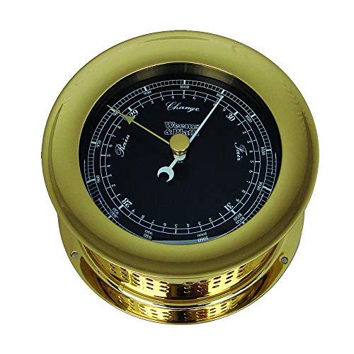 Weems & Plath Atlantis Premiere Barometer, Black Dial/ White Scale (Flag Dial Bezel)