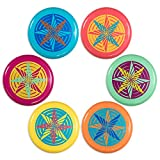 Hurricane Flying Discs - Pack of 6 in a Quick-Dry Mesh Carry Bag - Great for the Beach! By K-Roo Sports