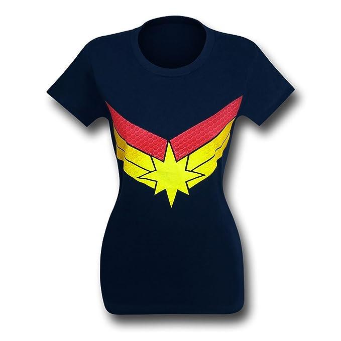 Capitán Marvel símbolo - Camiseta para Mujer - -  Amazon.es  Ropa y  accesorios 888c86c47a5e4
