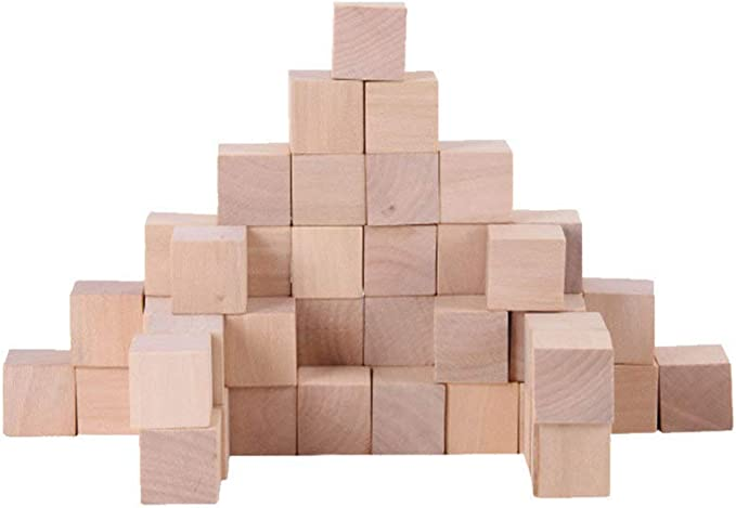 Artibetter cubos cuadrados diy cubos artesanales de madera bloques cuadrados diy coloridos para ni/ños adultos jugando 100pcs
