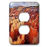 3dRose DanielaPhotography - Landscape, Nature - Spire-shaped Rock Formations at Bryce Canyon National Park, Utah, USA. - Light Switch Covers - 2 plug outlet cover (lsp_280199_6)