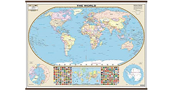 Amazon.com : World Large Scale Wall Map : Office Products