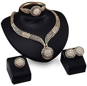 Amazon.com: Genuiskids Fashion Women Jewelry Sets Bride