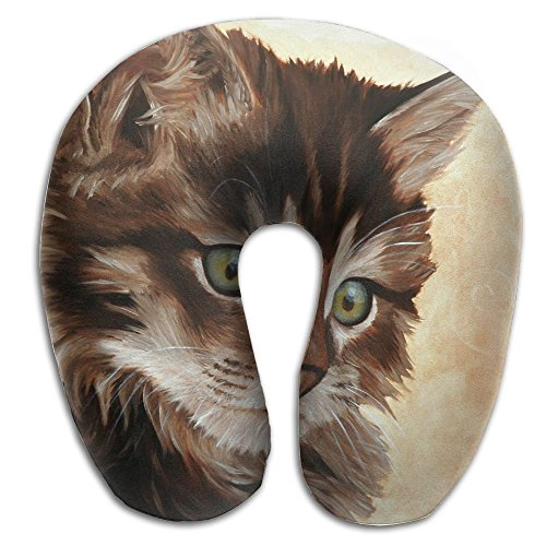 U-Shaped Pillow Neck Shoulder Body Care Cute Cat Paint Health Soft U-Pillow For Home Travel Flight Unisex Supportive Sleeping -