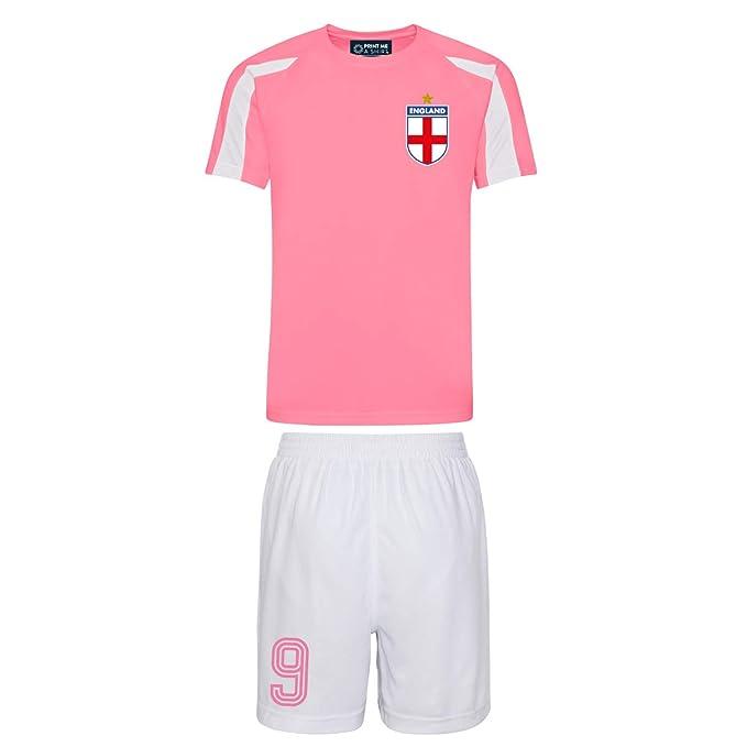 a968c9235202 Printmeashirt Kids Personalised England Style Football Shirt and Shorts   Amazon.co.uk  Clothing