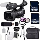 JVC GY-HM600 GYHM600 ProHD Handheld Camera Camcorder (International Model no Warranty) + 64GB SDXC Class 10 Memory Card + 72mm 3 Piece Filter Kit + 72mm Wide Angle Lens 6AVE Bundle 6
