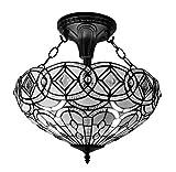 Amora Lighting AM231HL16 Tiffany Style Semi Flush