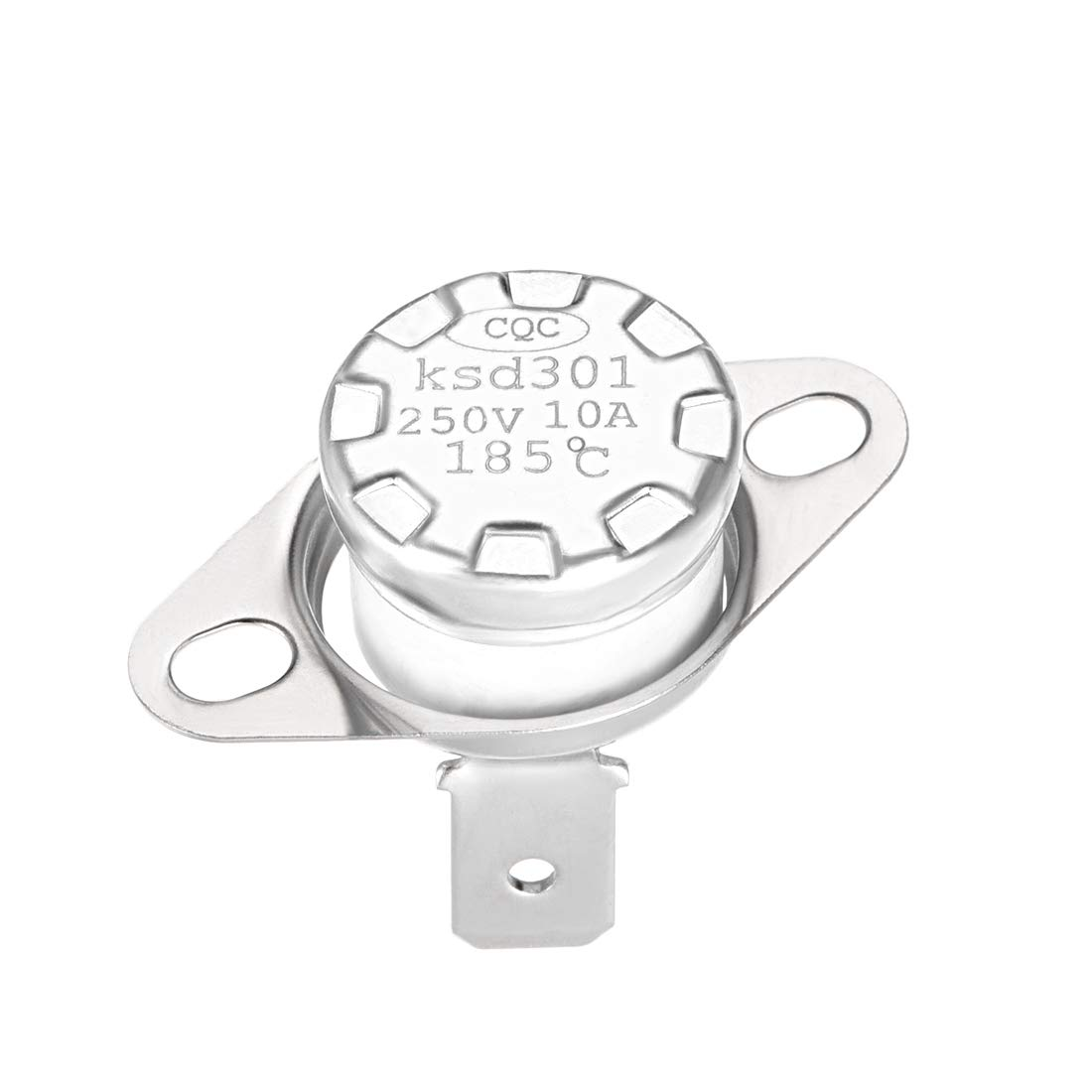 Adjust Snap Disc Limit Control Switch Microwave Thermostat Thermal Switch 165/°C 10A Normally Closed N.C 5pcs uxcell KSD301 Thermostat