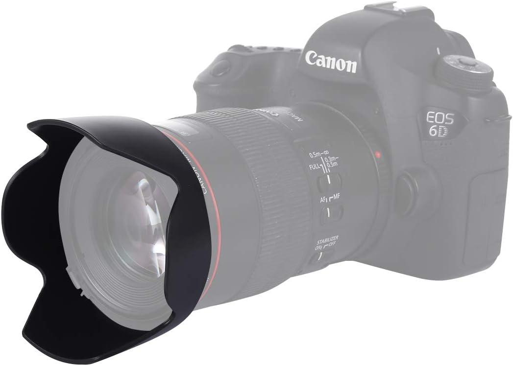 Lens Hoods EW-73B Lens Hood Shade for Canon EF-S17-85//4-5.6USM is Lens Black Lens Accessories