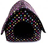 Rachel Pet Products Colorful Dots Soft Cloth Dog Pet House – Purple Review