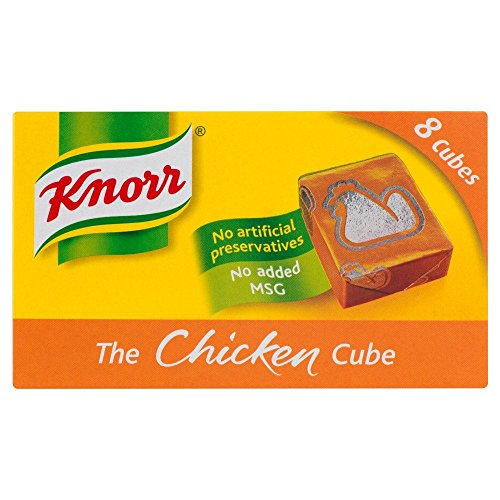 Knorr Chicken Stock 8 Cubes - 80g - Pack of 4 (80g x 4)