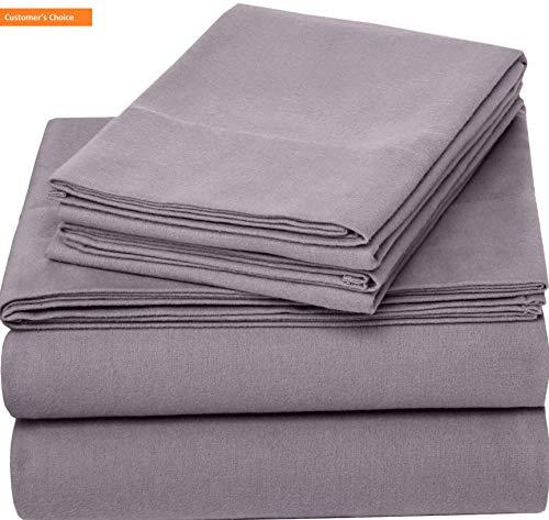 Mikash New Soft Pinzon 170 Gram Flannel Sheet Set – Twin, Graphite | Style 84598389