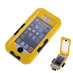 Vakind Waterproof Bag Case With Armbandfor+ a Neck Strap Fit for Iphone 5G/5S (Yellow)