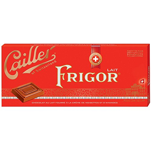 Cailler Frigor milk (2 x 100g) - Milk chocolate with almond and hazelnut cream filling