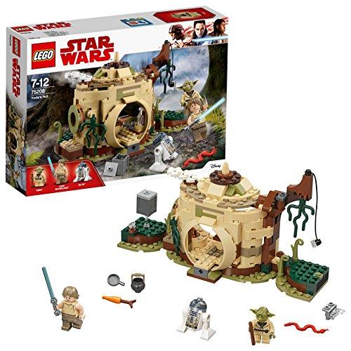 LEGO Star Wars Yoda'S Hut Building Set, Yoda & R2-D2 Droid Minifigures, Jedi Training Play -