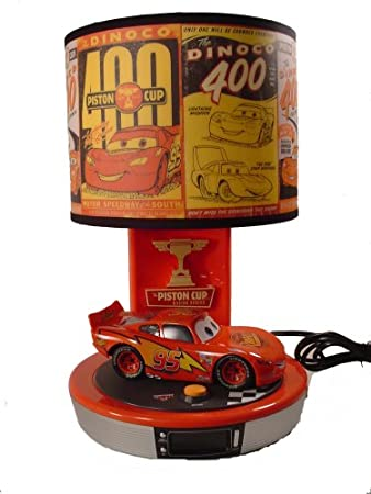 Amazon disney cars talking lightning mcqueen table lamp disney cars talking lightning mcqueen table lamp alarm clock radio mozeypictures Image collections