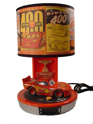 Disney CARS   Talking Lightning McQueen Table Lamp U0026 Alarm Clock Radio