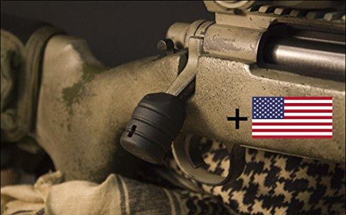 KRG Tactical Bolt Knob Lift for All Remington 700 (Black) + FREE US Flag Sticker