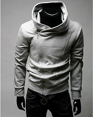 Imixcity Assassin's Creed Revelations Desmond Miles Cosplay Costume Hoodie Jacket(Light Gray,XL)