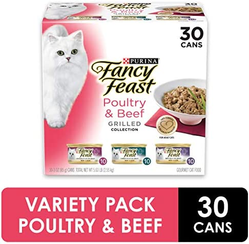 Fancy Feast Purina Gravy Wet Cat Food Variety Pack, Poultry & Beef Grilled Collection 2