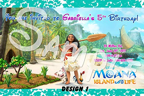 Moana Personalized Birthday Invitations More Designs inside!