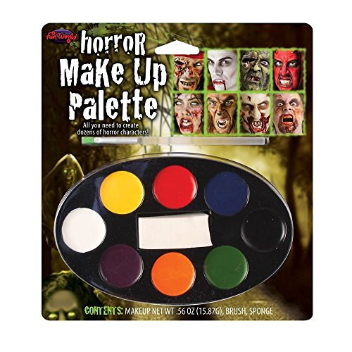 Fun World  Horror Makeup Palette With 8 Colours Accessory, -