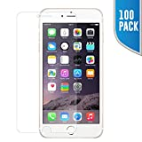 Big Saving! 100 Pack - iPhone 7, 8 PLUS 2.5D 9H Tempered Glass Screen Protector (NOT Full Cover) - Top notch Japan Ashai / Tempered Ballistic Glass Screen Protector by SkylerShield - No Retail Package