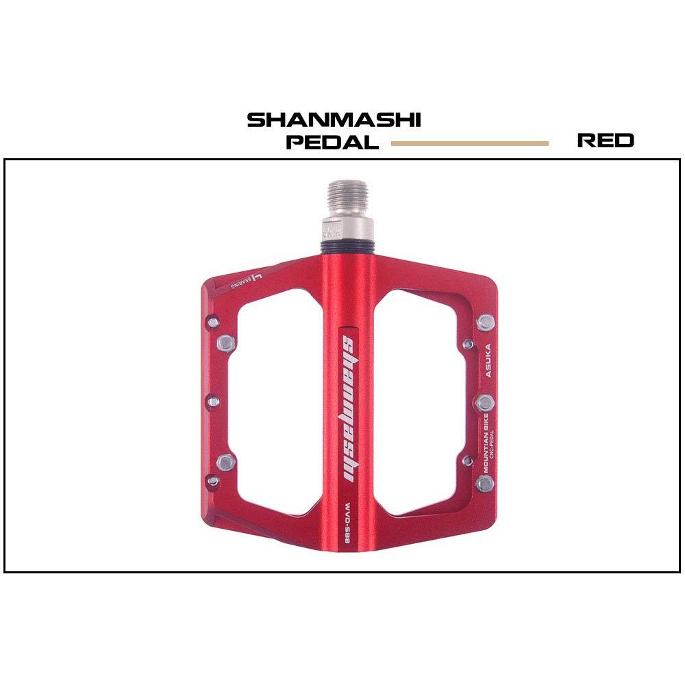 AUMING Mountainbike Fahrradpedale Rennrad Pedale MTB Peda Mountainbike Pedale 1 para Aluminiumlegierung Rutschfeste Durable Bike Pedale Oberfläche Für Straße BMX MTB Fahrrad 4 Farben (SMS-S88)