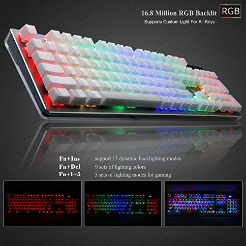 0016544b3f8 RGB Mechanical Keyboard, Rottay 16.8 Million RGB Backlit Wired Mechanical  Gaming Keyboard with Brown Switches 104-Key Anti-ghosting and Fully  Programmable ...