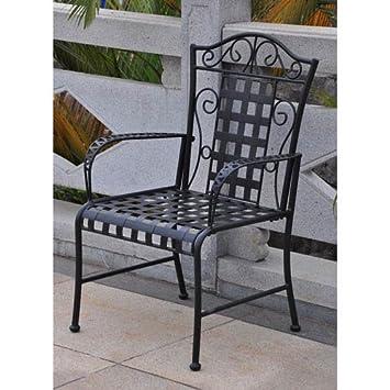 International Caravan Mandalay Iron Patio Chair – Set of 2