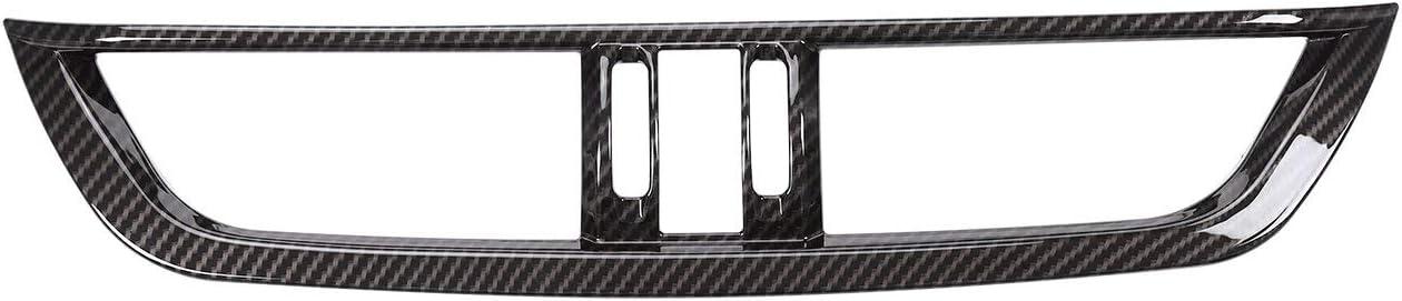 for Alfa Romeo Carbon Fiber Pattern Giulia Center Console AC Socket Frame Cover, ABS Carbon Fiber Style car Interior Modification Accessories