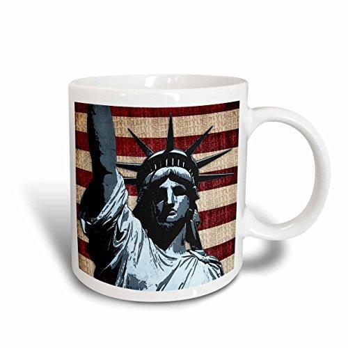 3dRose Liberty Patriotic American 11 Ounce