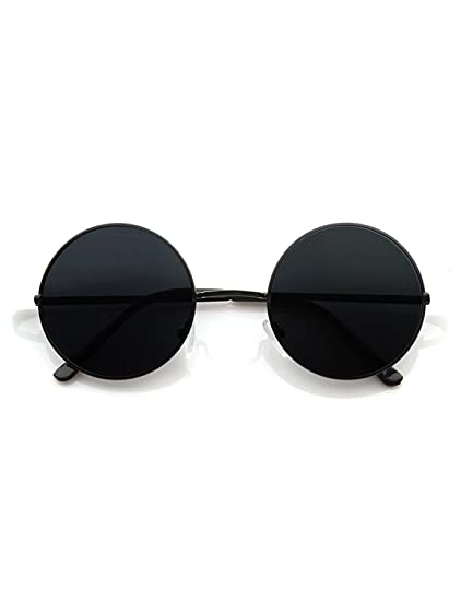 3ed664cec6 Hipe Black Round Sunglasses For Men And Women  Amazon.in  Clothing    Accessories