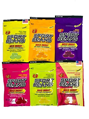 Jelly Belly Sport Beans, Energizing Variety Pack, 1-Ounce Bags (24 Count) - 4 of each flavor by Jelly Belly