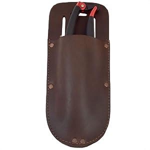 Hide & Drink, Thick Leather Holster for Pruning Shears w/Belt Loop Garden Scissors Sheath Handmade Includes 101 Year Warranty :: Bourbon Brown