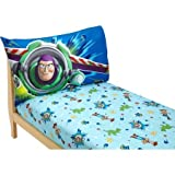 Adorable 2-Pack Disney Toy Story Polyester Bedding Sheet Set for Toddlers