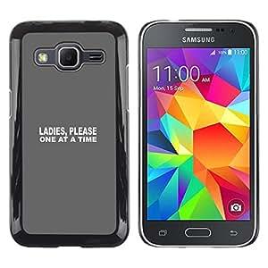 // PHONE CASE GIFT // Duro Estuche protector PC Cáscara Plástico Carcasa Funda Hard Protective Case for Samsung Galaxy Core Prime / Uno a la vez /