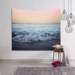 Digital printing tapestry beach towel blue sea white spray series