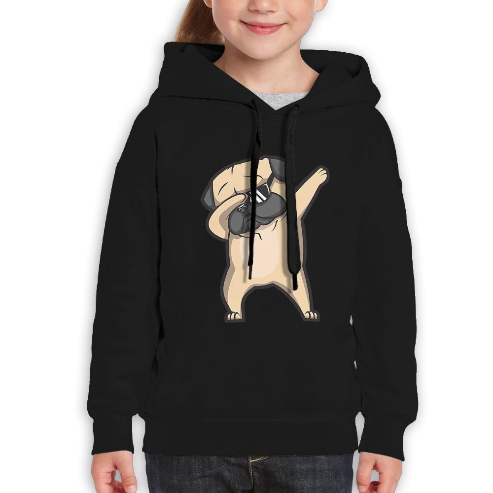 NEWWEY Dabbing Pug Hoodie Sweaters for Boys/Girls
