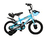 Outdoor Bikes Jaunty BMX 14 inches Bicycle for 3 to 5 Age Group (Semi Assembled with Assembly Instruction Manual & Tool Kit) (Bottle Blue)