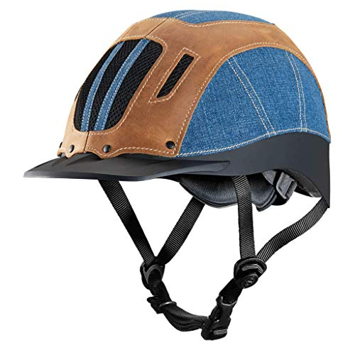 Troxel Sierra Denim Horse Riding Western Helmet Low Profile Adjustable (XL) ()