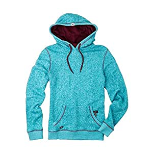 One Industries Women's Shorty Hooded Pullover Sweatshirt (Blue Tile, Large)